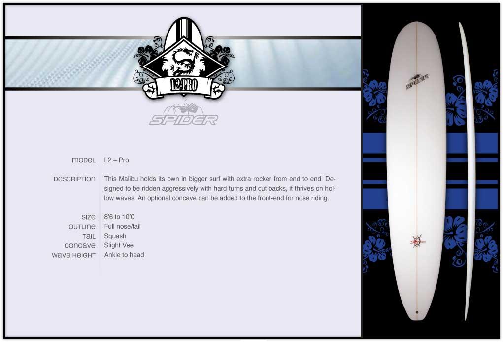 Spider L2 Pro Longboard Surfboard