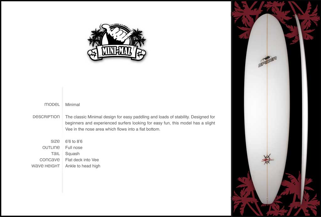 Spider Minimal Surfboard