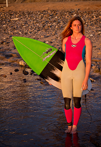 JESSIE TUCKMAN SPIDER SURFBOARDS TEAM SURFER